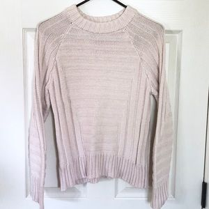 Knitz for Love & Lemons pink cotton sweater sz S?